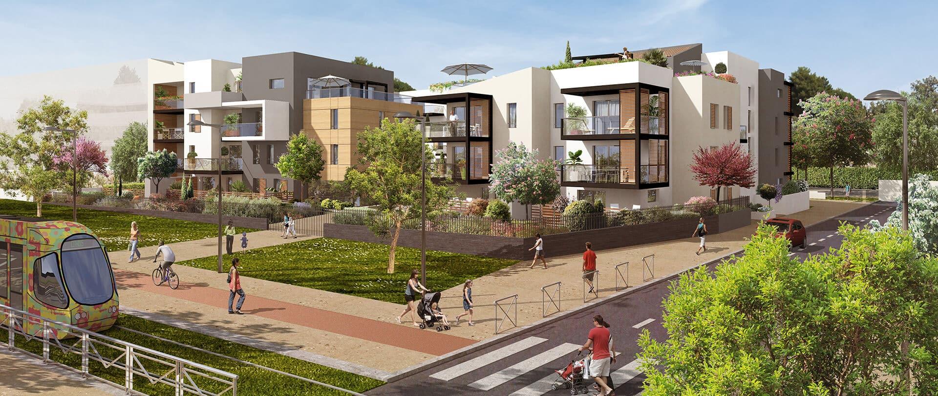 projet immobilier green village à Montpellier
