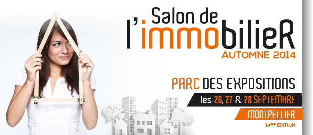 Affiche du Salon de l'Immobilier de Montpellier 2014