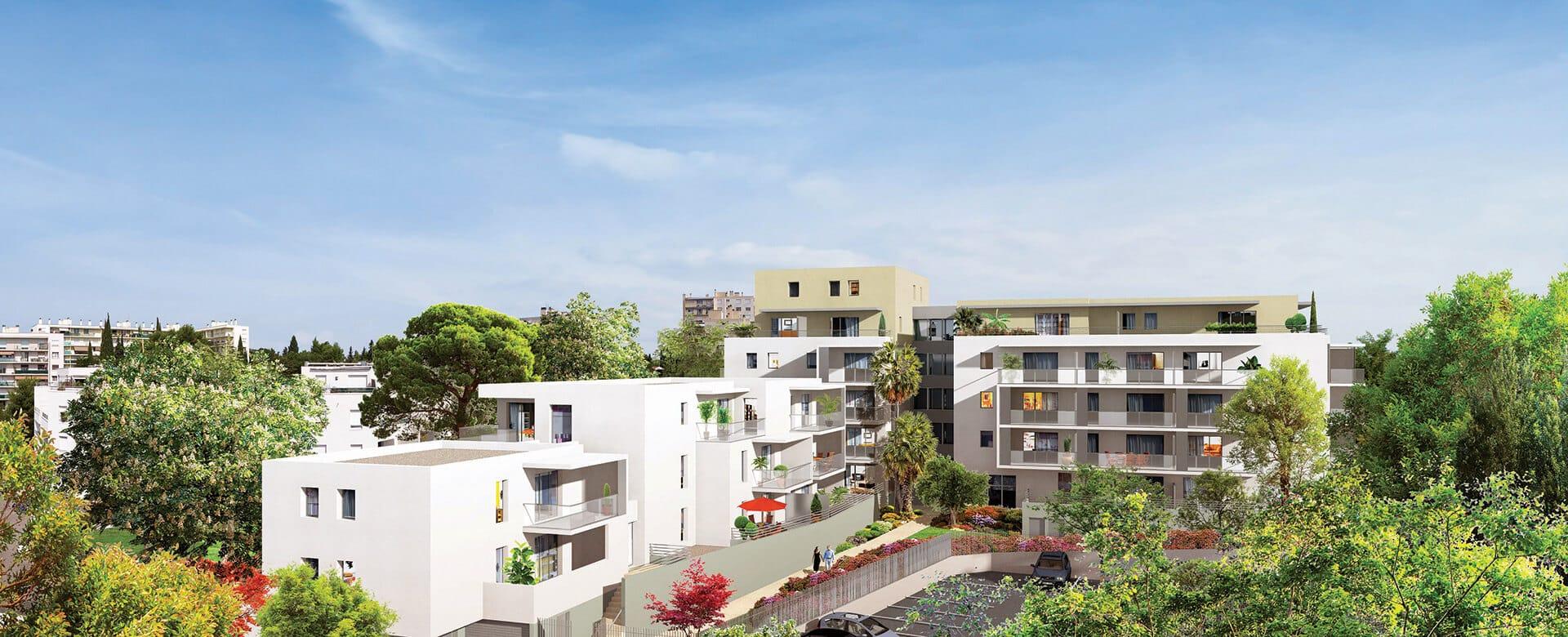 Vue sur la résidence City Zen à Montpellier