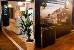Le stand de Bacotec au Salon de l'Immobilier de Montpellier