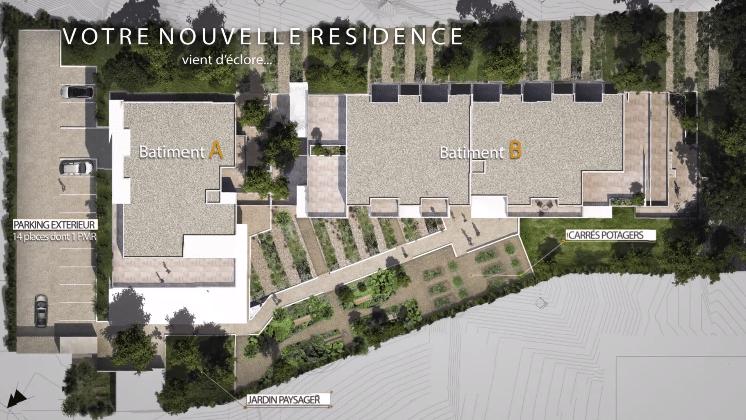 plan extérieur résidence saint-aunès