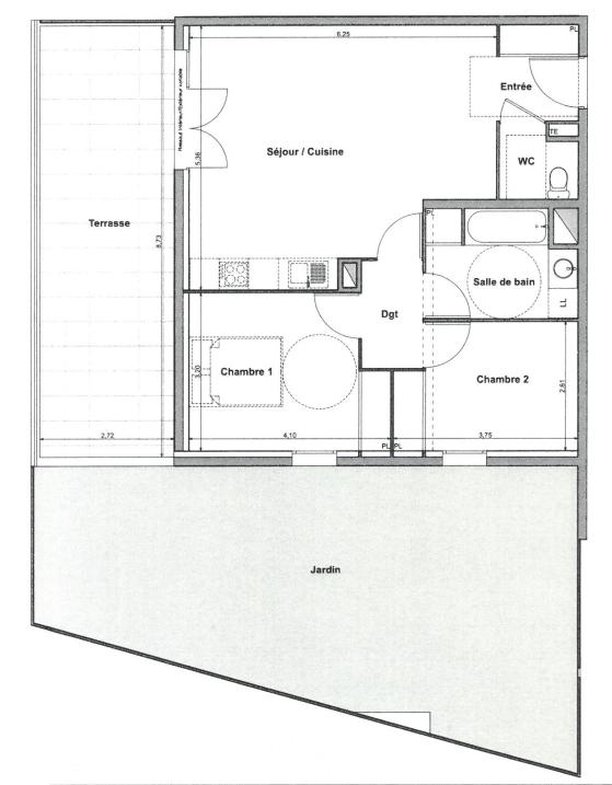 Plan T3 neuf Arceaux