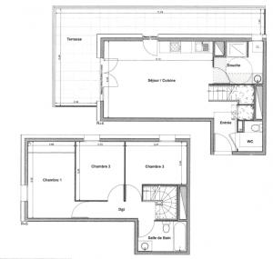 T4 neuf duplex plan