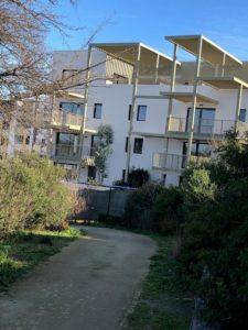 Chantier de la résidence Côté Parc située dans le quartier Ovalie à l'Ouest de Montpellier