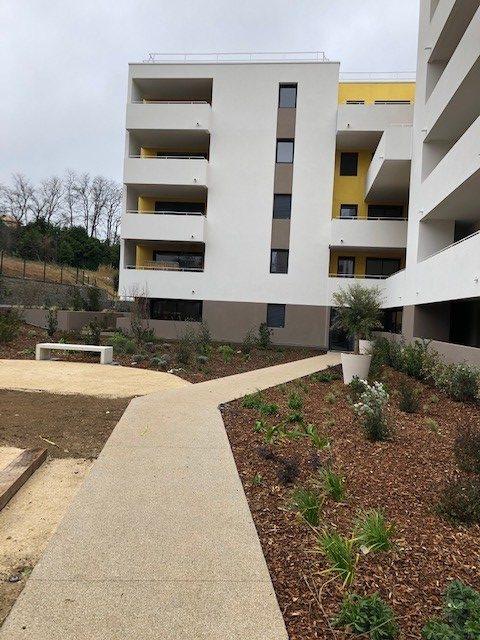 Jardin extérieur d'un programme Immobilier