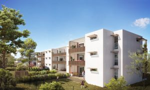 Vue sur la villa Viasplage, proche de Béziers