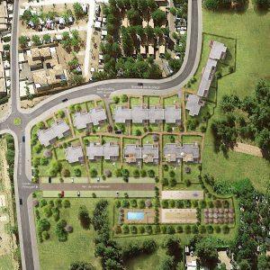 Vue du quartier de la villa Viasplage
