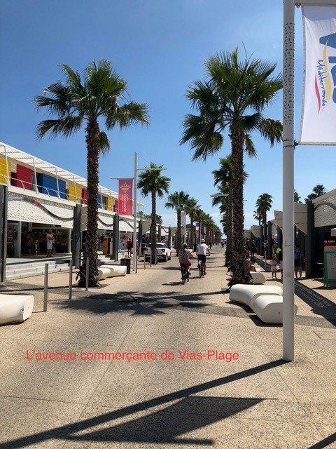 Avenue commerçante Vias Plage