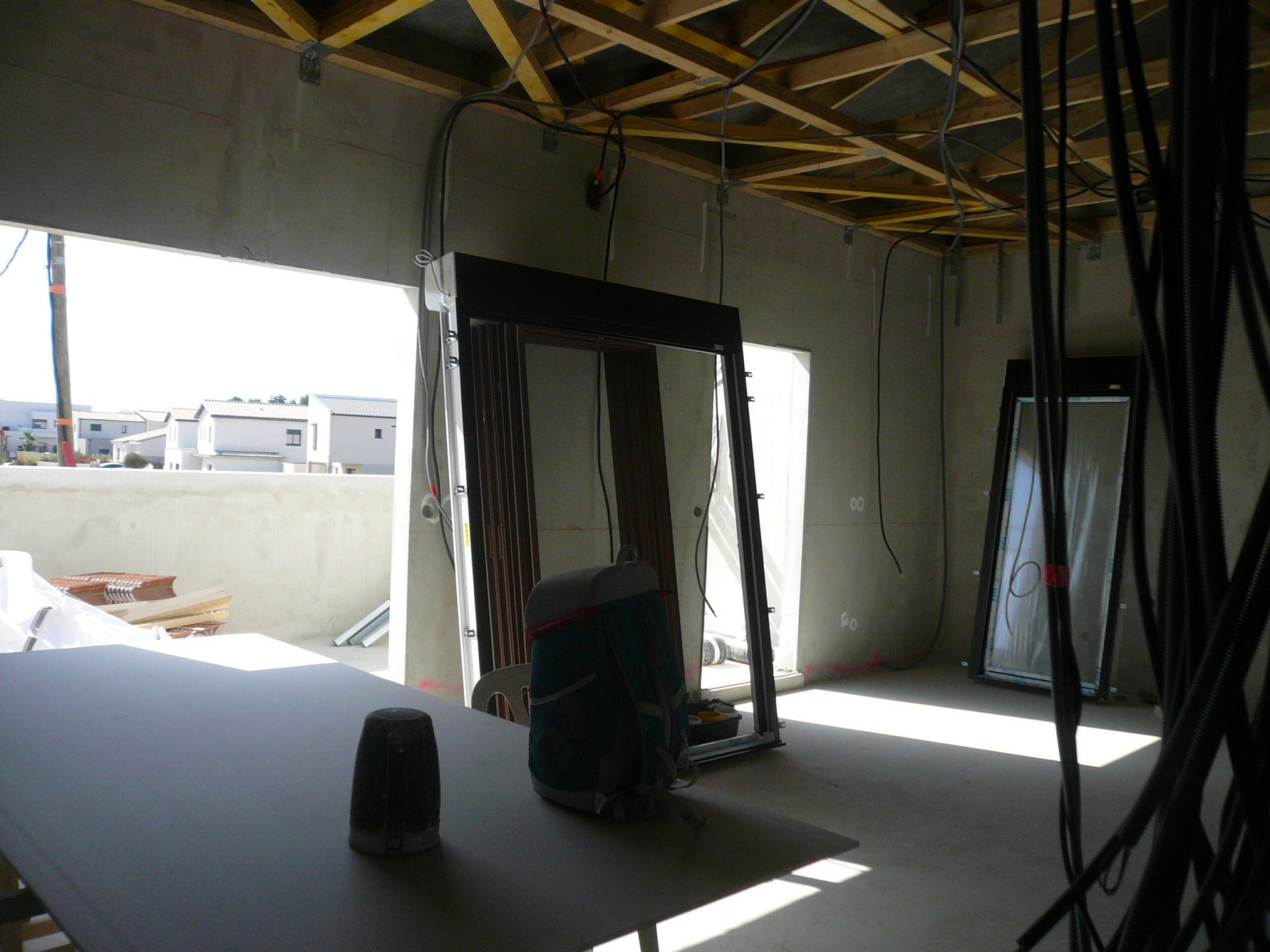 Intérieur du chantier de East Village situé sur St Jean de Vedas