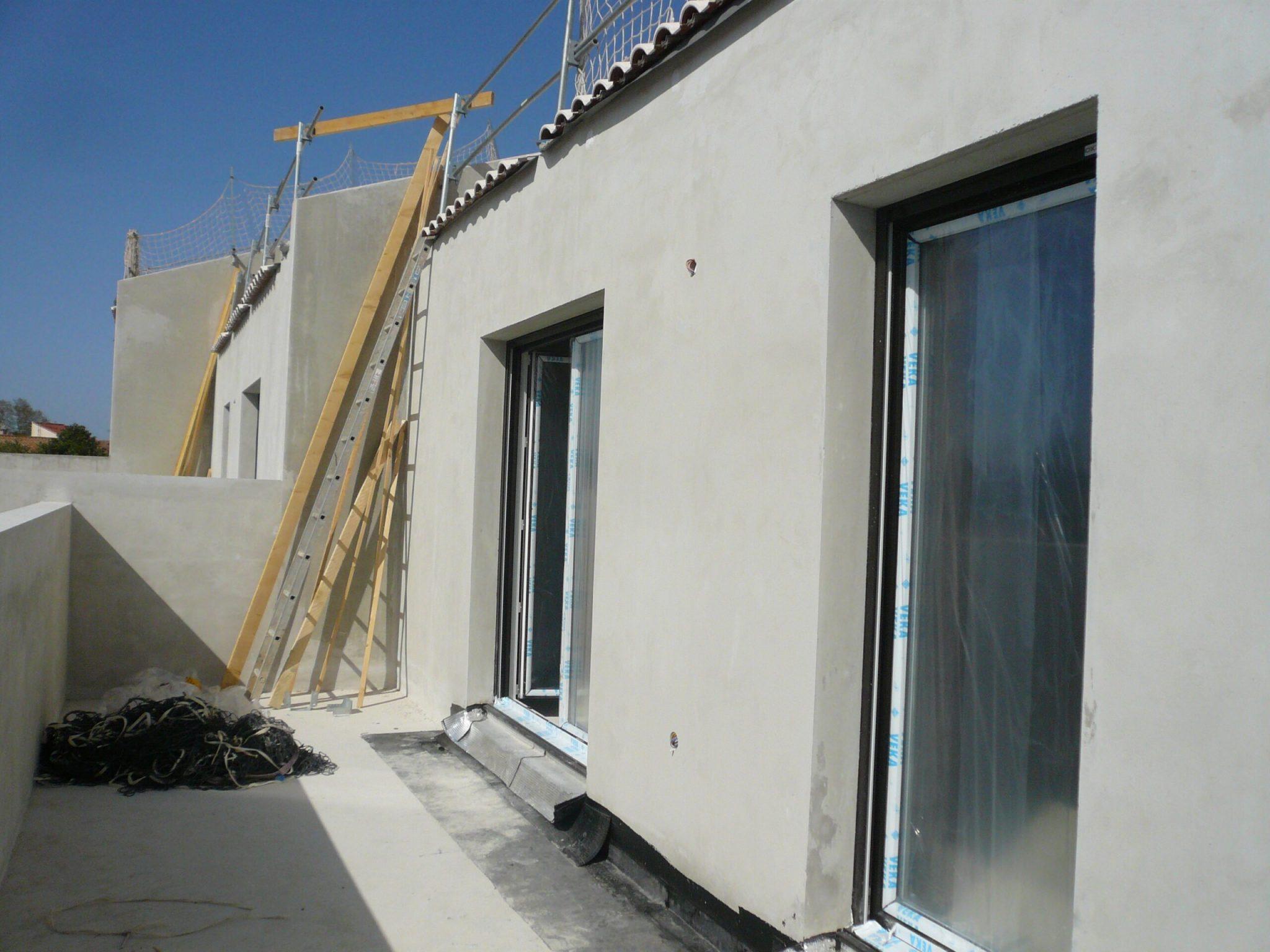 Extérieur en chantier de East Village situé sur St Jean de Vedas