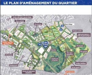 Plan d'aménagement du quartier