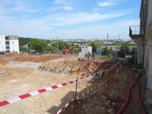 L'échappée Belle, travaux de la résidence sur Juvignac aux portes de Montpellier.