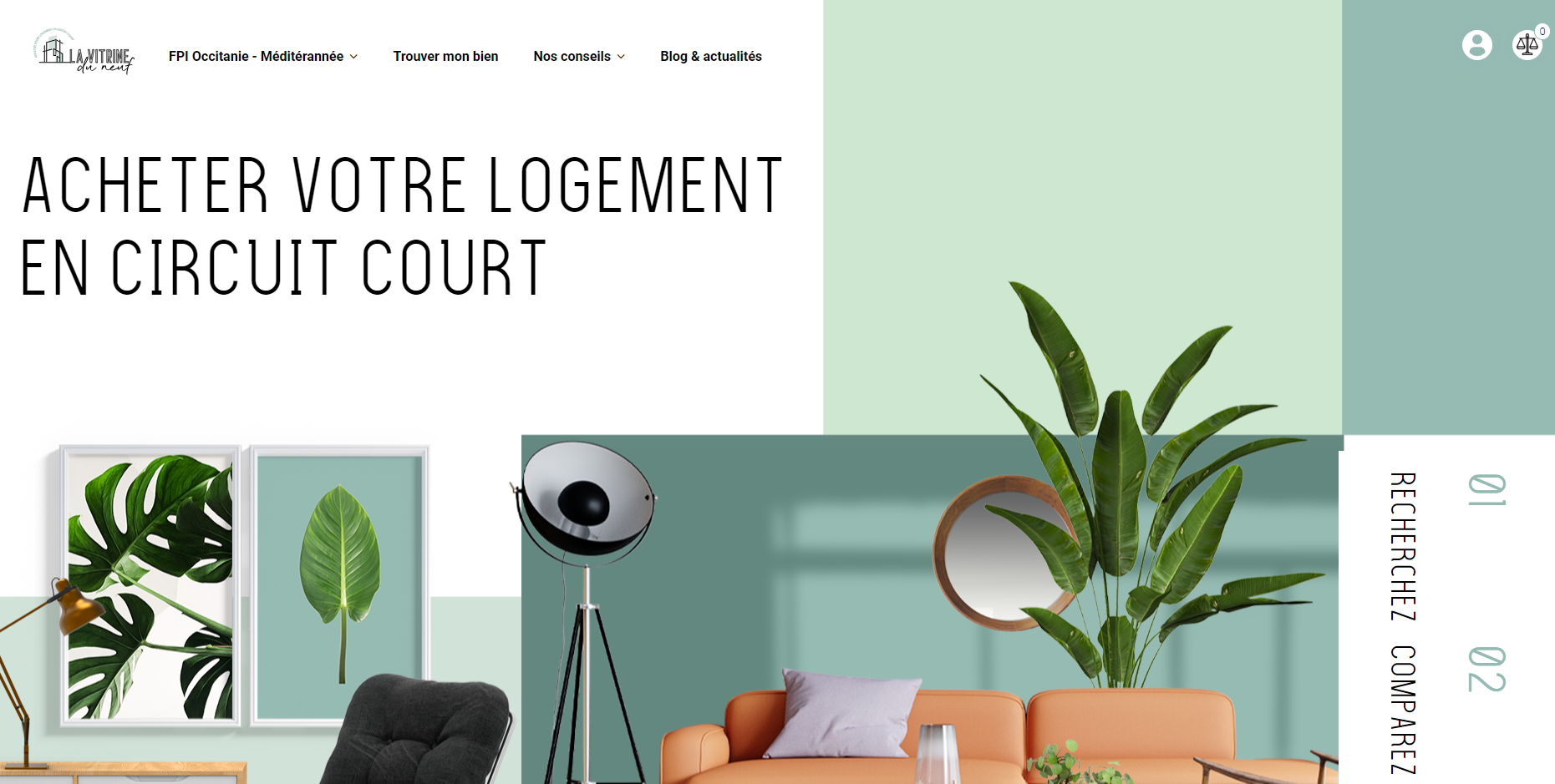 la vitrine du neuf plateforme digital promoteur immobilier Montpellier